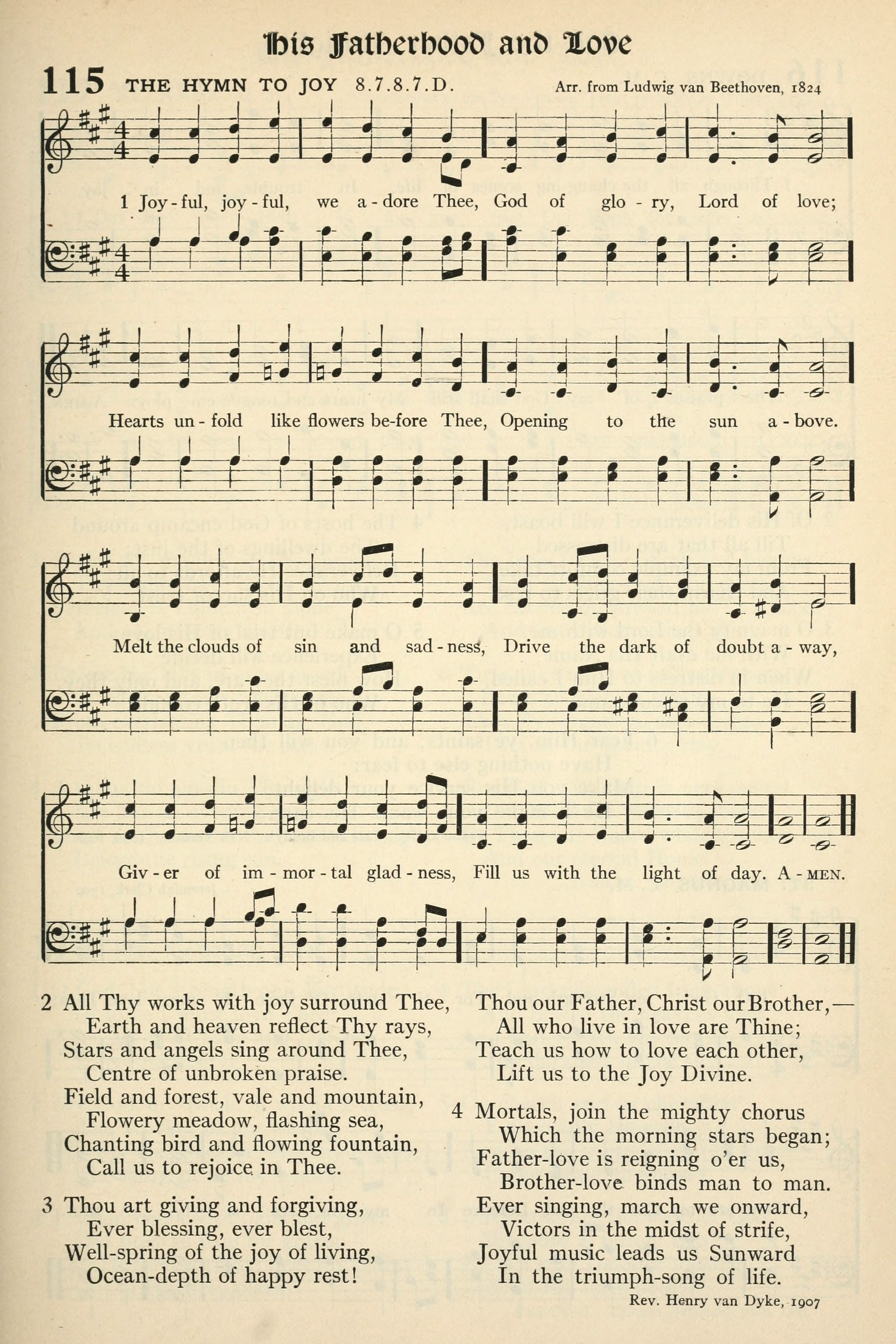 Fig. 4.   The Hymnal  (Philadelphia: Presbyterian Board, 1911).