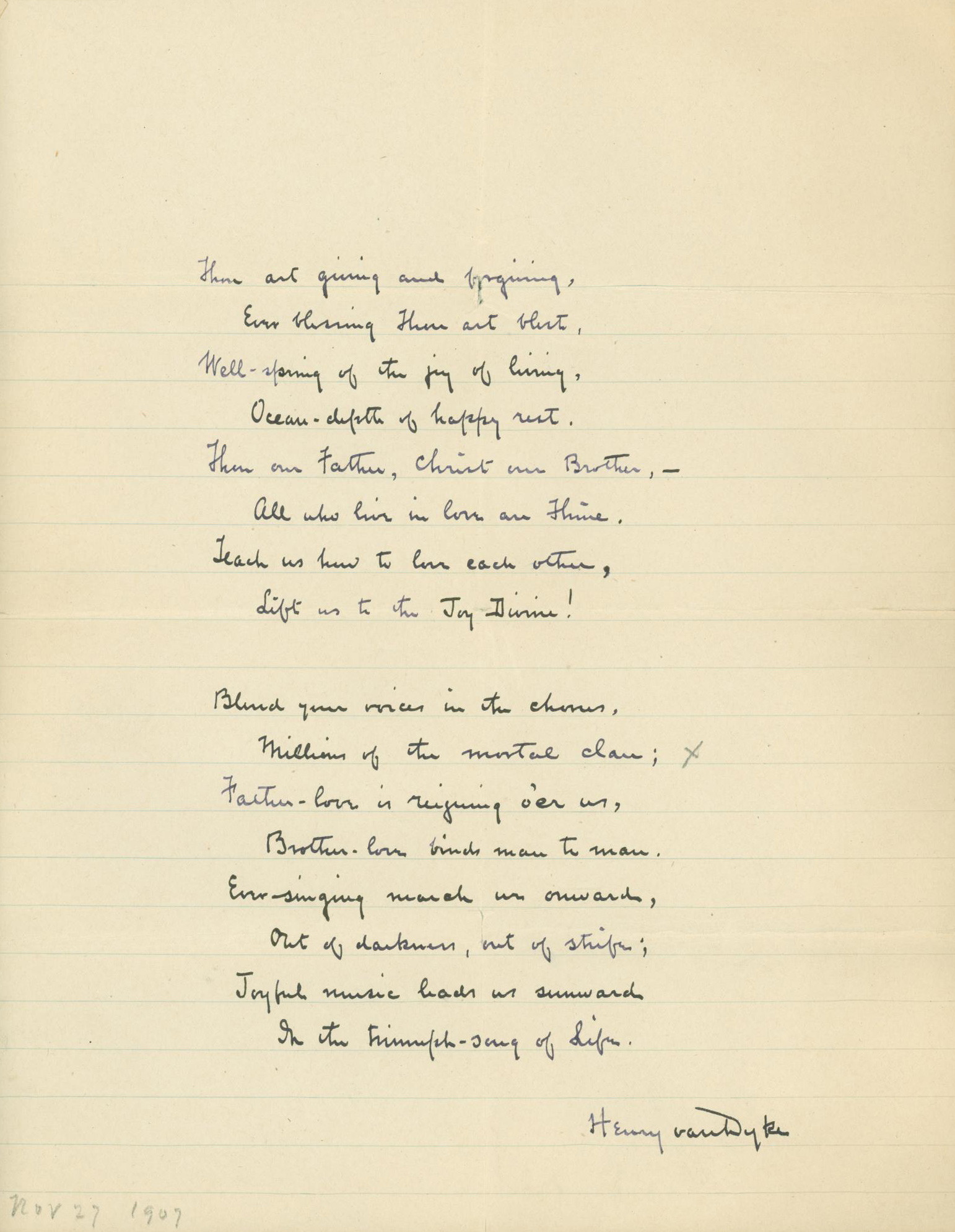 Fig. 1.  Louis F. Benson Manuscript Collection, Princeton Theological Seminary.