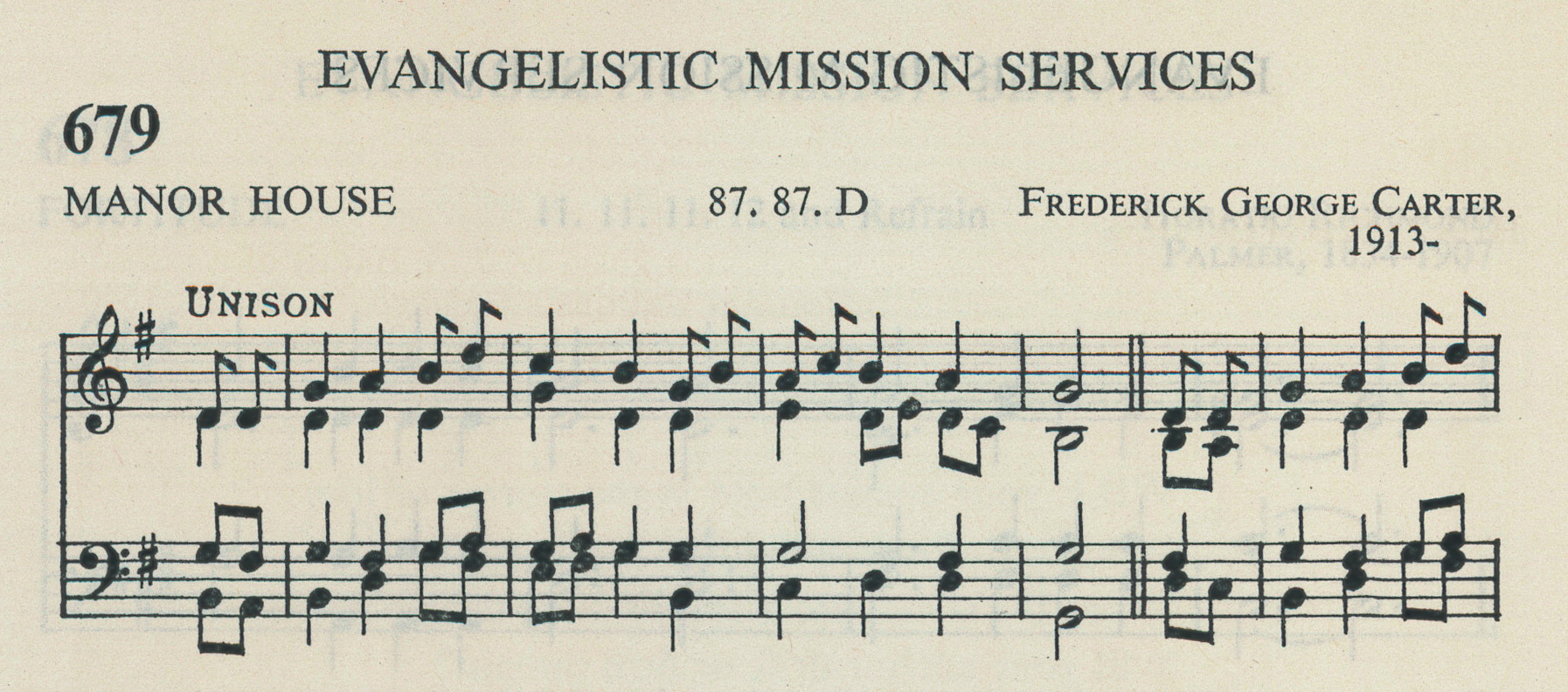 Fig. 5.   Church Hymnal with Accompanying Tunes  (Dublin: APCK, 1960), excerpt.