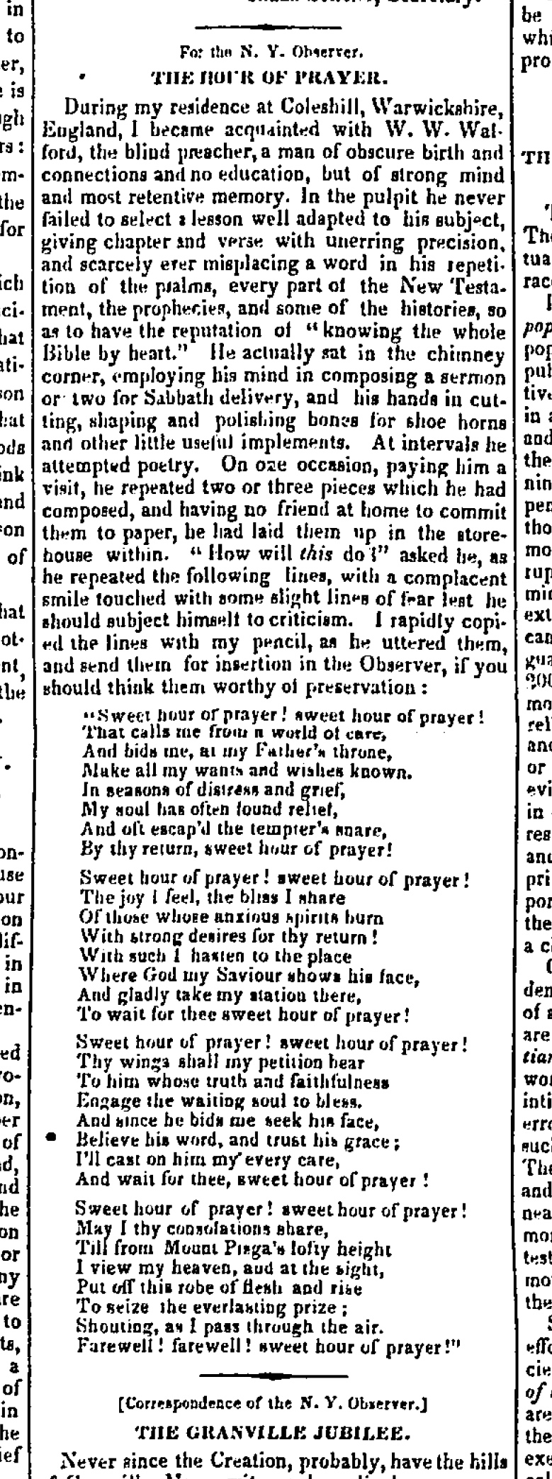 Fig. 1.   New York Observer , vol. 23, no. 37 (13 Sept. 1845), front page.