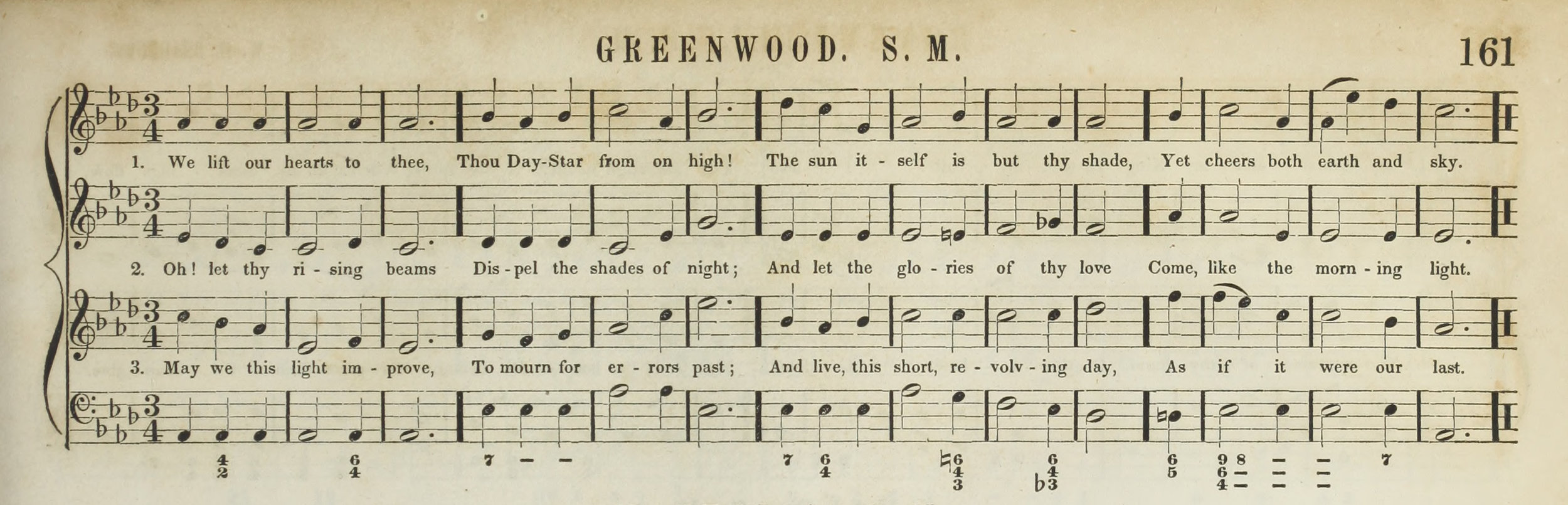Fig. 6.  George F. Root & Joseph E. Sweetser,  A Collection of Church Music  (NY: John Wiley, 1849). Melody in the tenor voice.