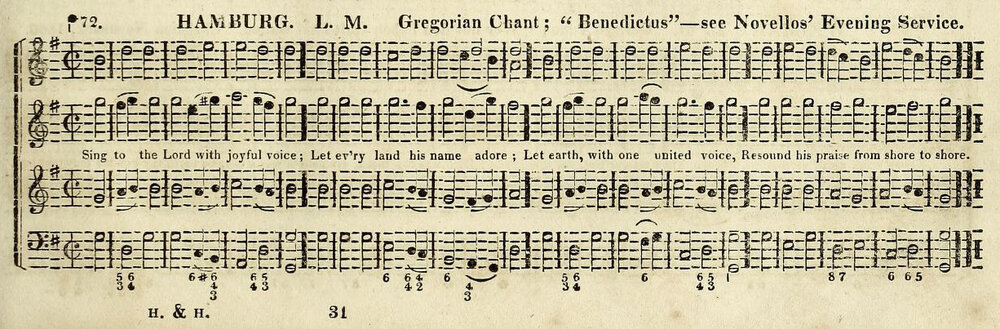 Fig. 3.   The Boston Handel and Haydn Society Collection of Church Music,  3rd ed. (1825). Melody in the tenor part.