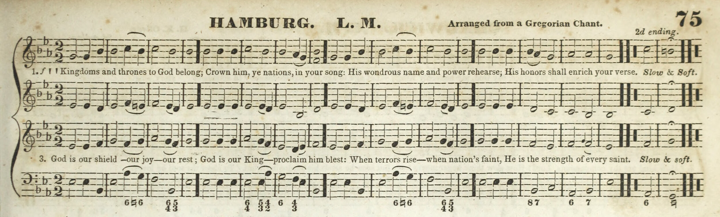 Fig. 5.   The Boston Academy's Collection of Church Music,  3rd ed. (Boston: Carter, Hendee & Co., 1835). Melody in the tenor part.