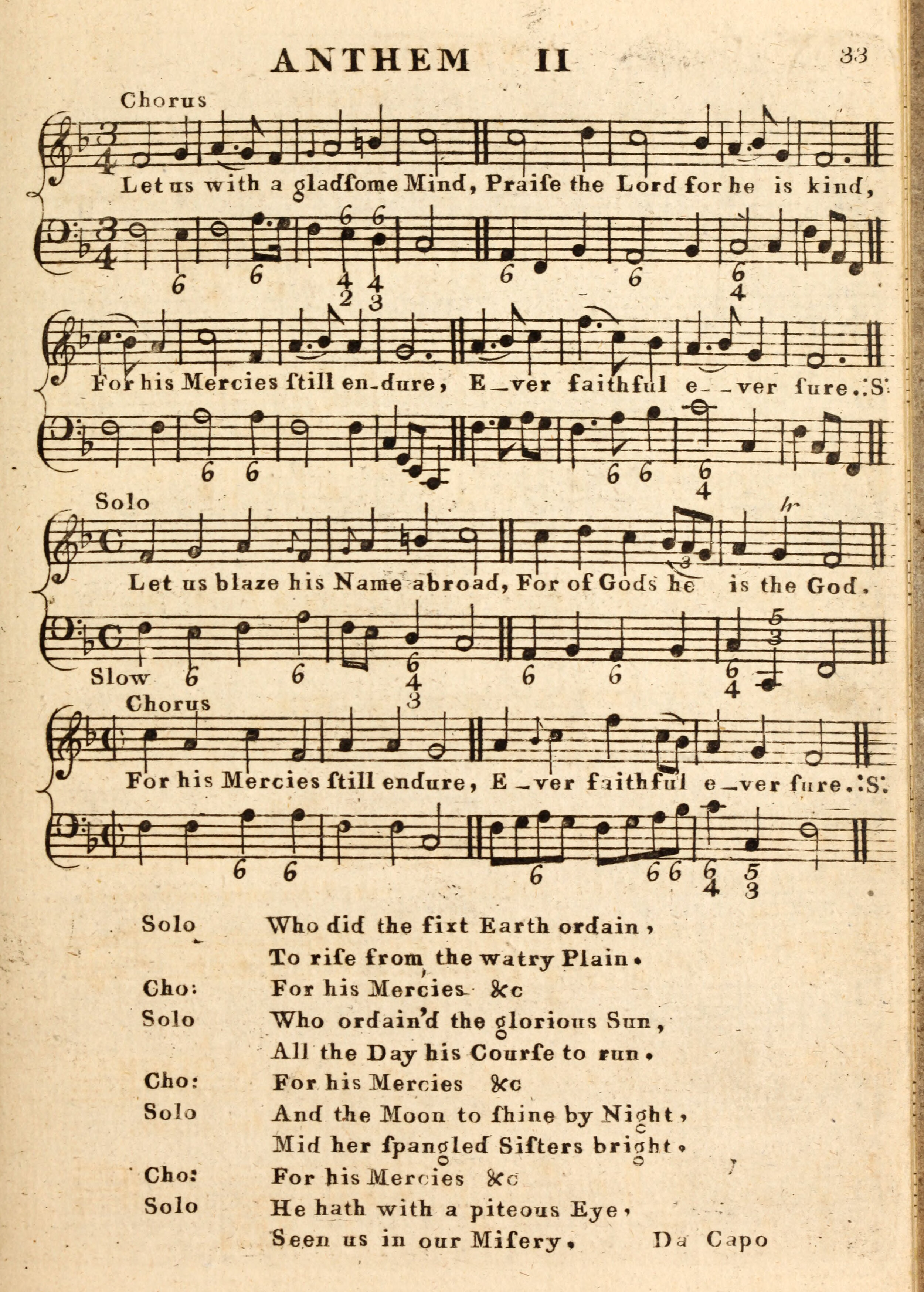 Fig. 3.  Thomas Call,  Hymns Anthems and Tunes with the Ode used at the Magdalen Chapel  (ca. 1766).
