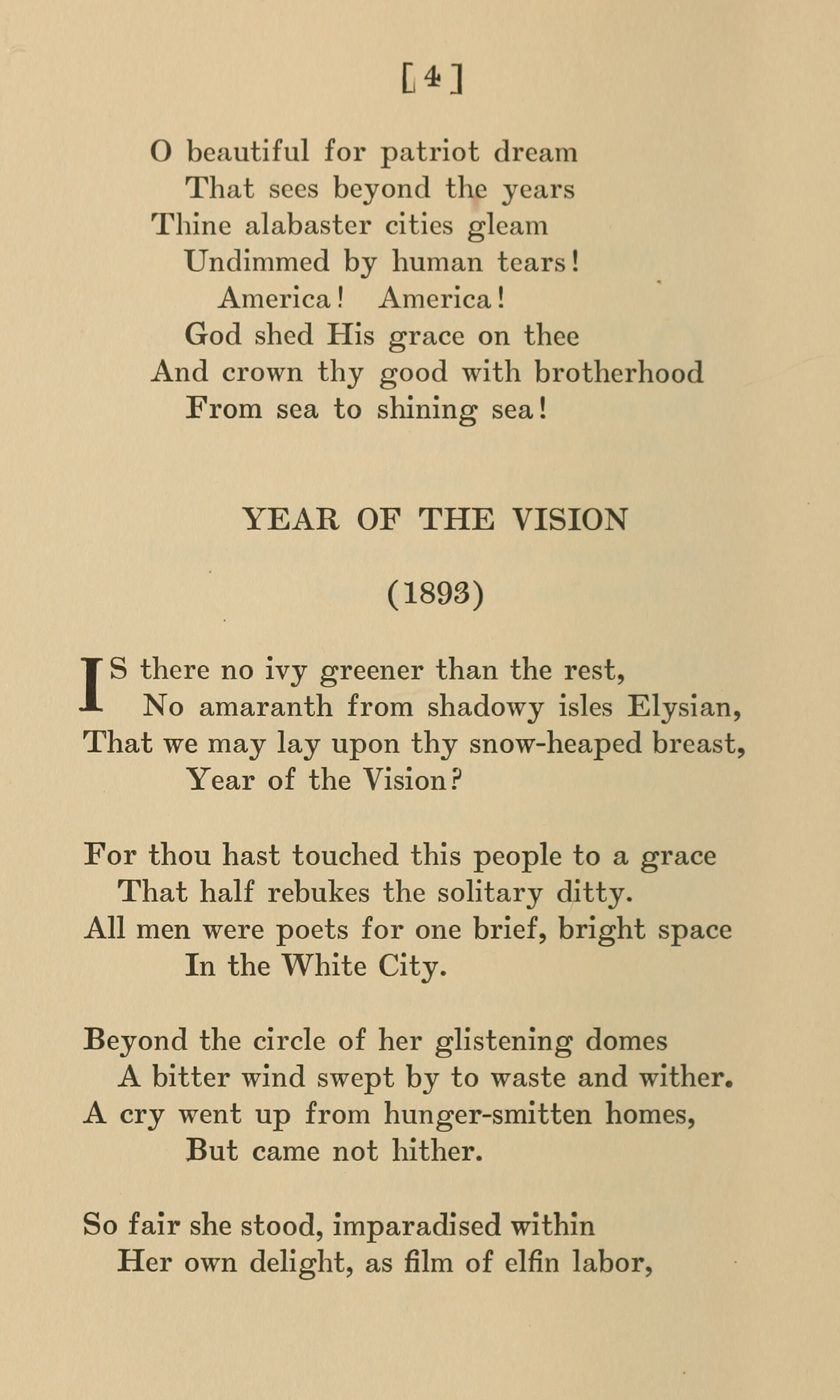 Fig. 2.   America the Beautiful and Other Poems  (NY: Thomas Y. Crowell Co., 1911).