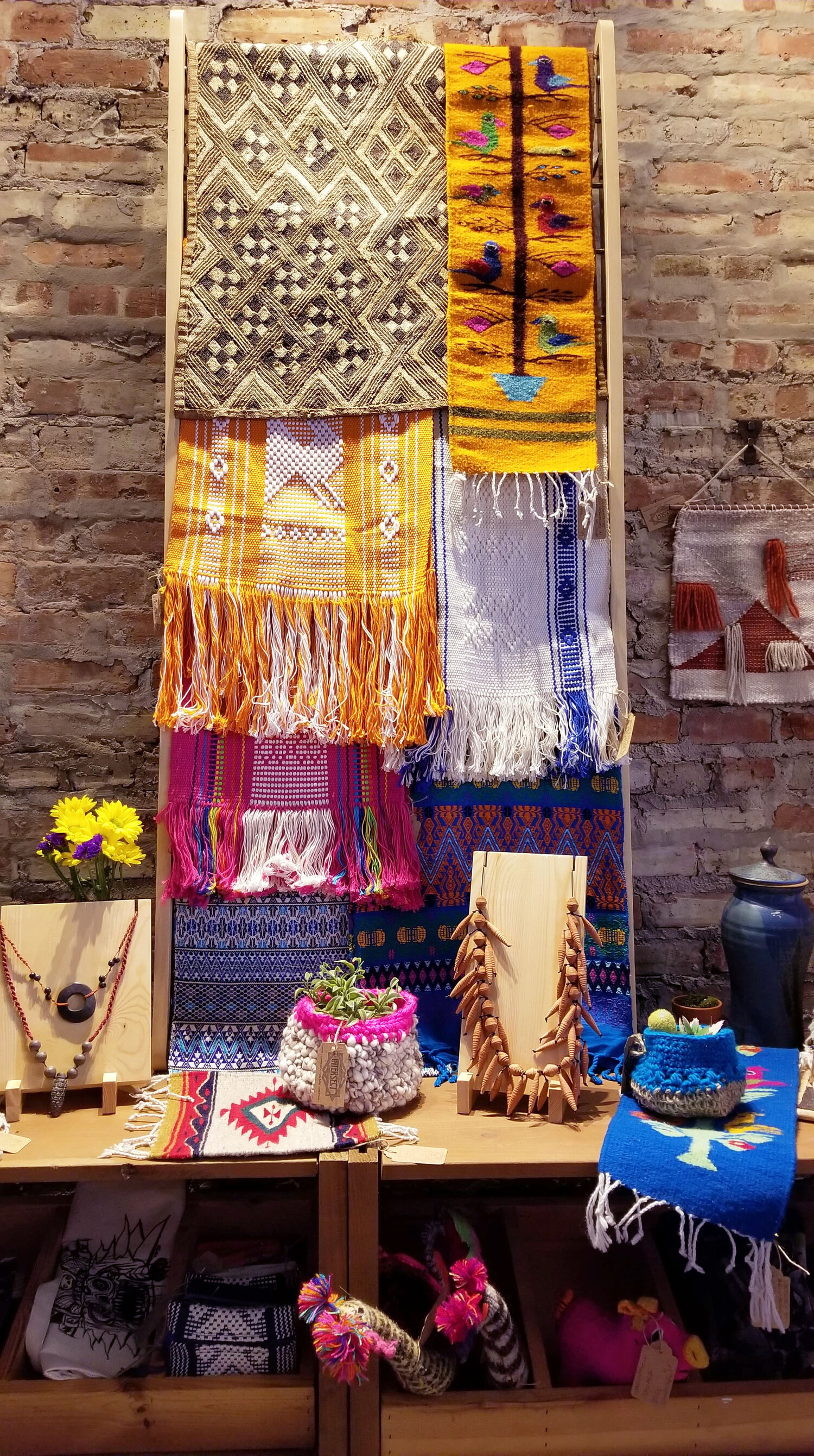 Handwoven textiles from Oaxaca and Chiapas, Mexico