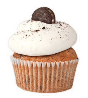 Cookies & Cream - *V | GFOreo crumbles packed in a vanilla cake, with vanilla buttercreamfrosting, topped with more Oreo crumbles and a mini Oreo