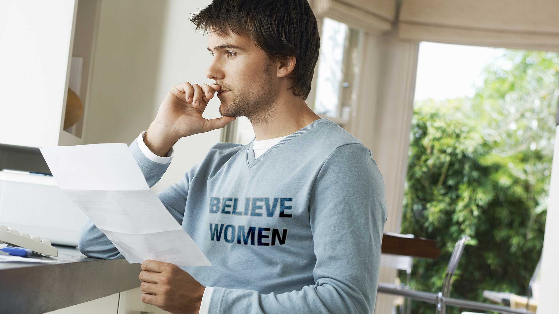 Man-in-'Believe-Women'-Shirt-Really-Hoping-You-Don't-Ask-About-Keith-Ellison.jpg