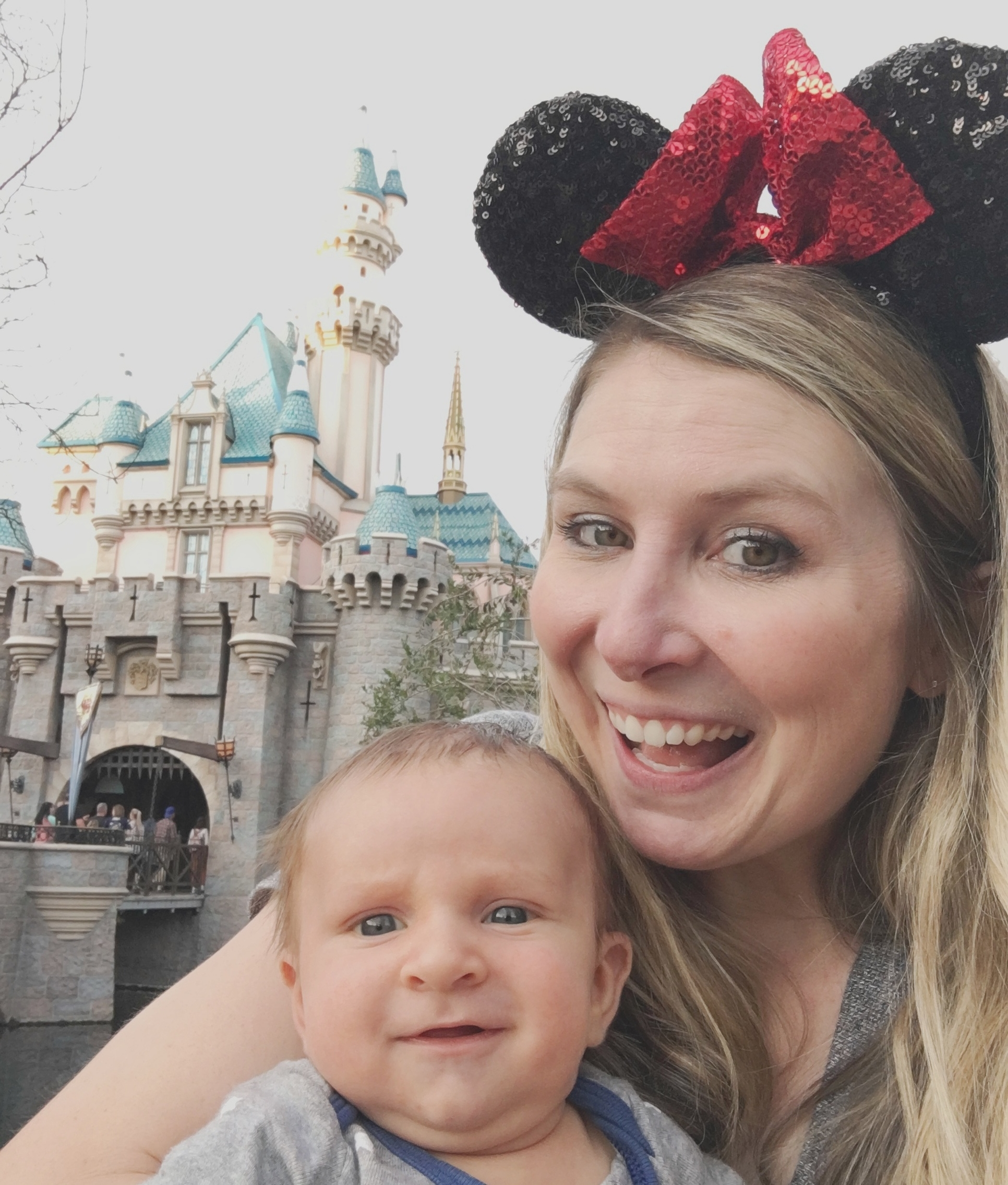 Me & Luke at Disneyland when he was only 7 weeks old!