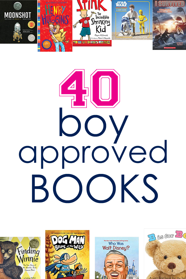 40 boy-approved books for all ages