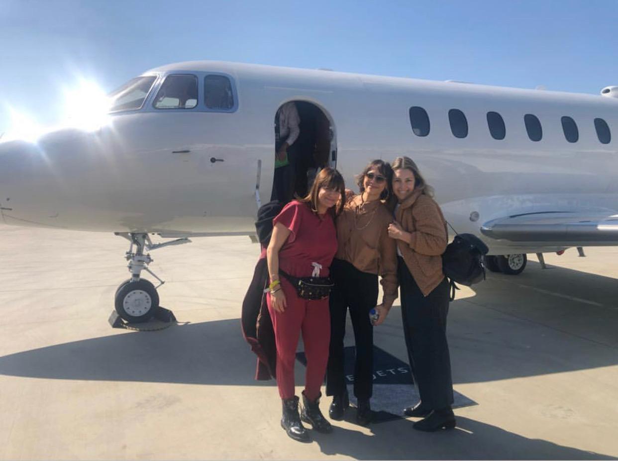 Kylee Heath, Rashida Jones and me heading to Apple!