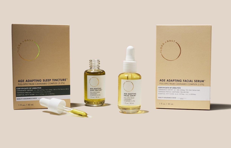Flora + Bast's Age Adapting Sleep Tincture and Age Adapting Facial Serum