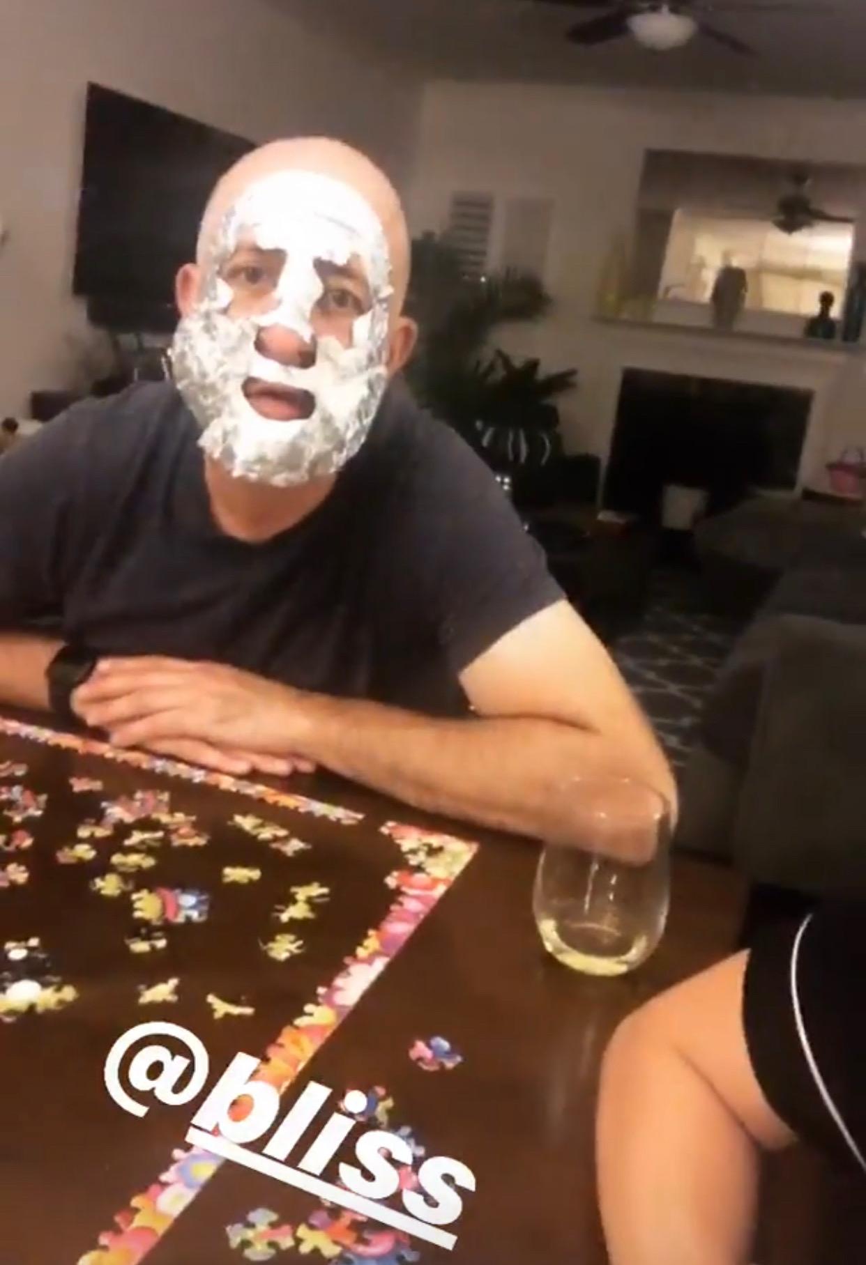 Josh rocked a Bliss mask