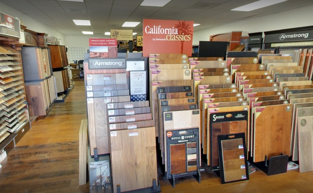 Hardwood and Laminate flooring samples