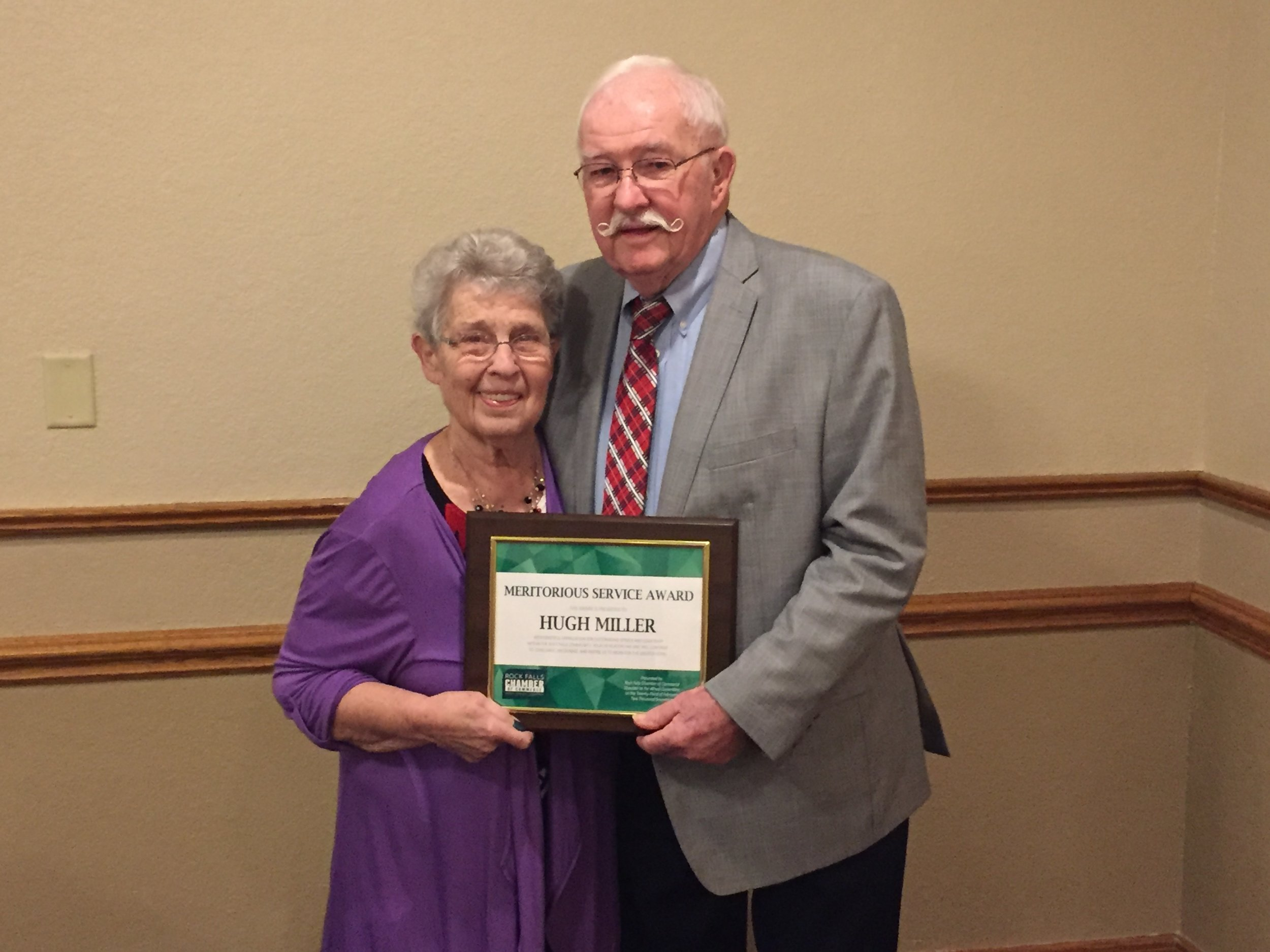 Hugh receives Meritorious Award