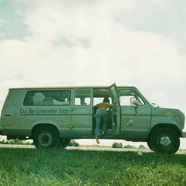"""Finally out!! **VUE** """"Down For Whatever"""" is OUT NOW on all streaming. Search """"Vue She's Sweet"""" in Spotify or Apple Music to find. New cover photo by @sambuffa_ on tour in the #eastbayconservationcorps van sometime in '01. 🚌🌾 #vueband #dfw #shessweet #sonymusic"""