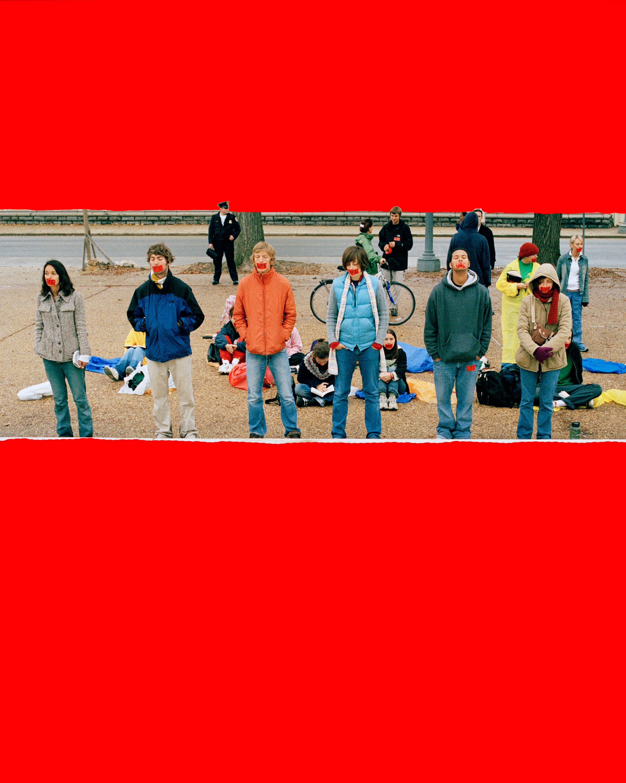 """Protest at U.S. Supreme Court , Washington, D.C. 2004.                                                                    h.44.5"""" x w. 36"""""""