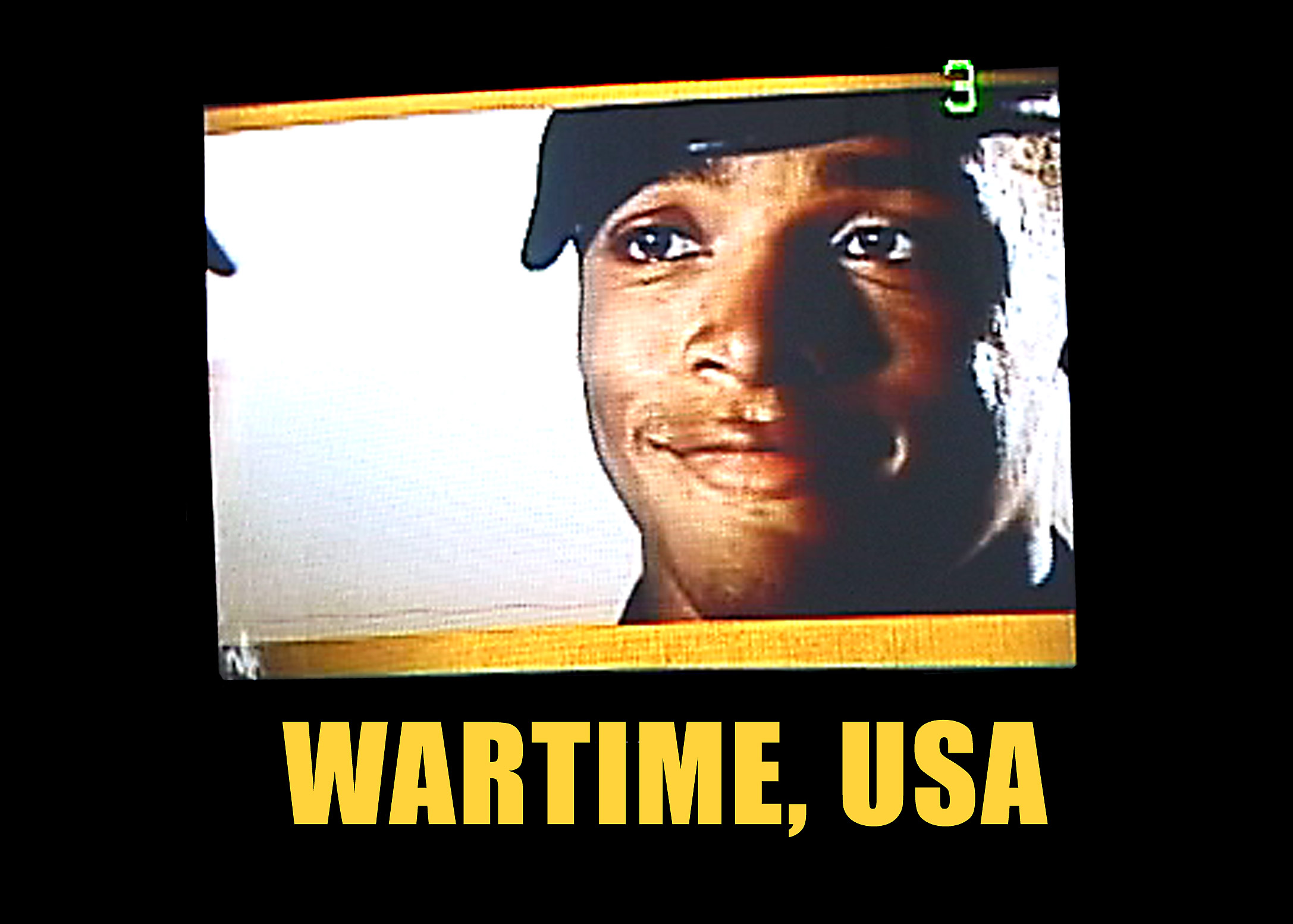 Wartime, USA  2006 | Color video | 20:00  An examination of Americans in a time of war, revealing a passive and pliable culture of consumption who's participants are only too willing to loo the other way.    More about Wartime, USA