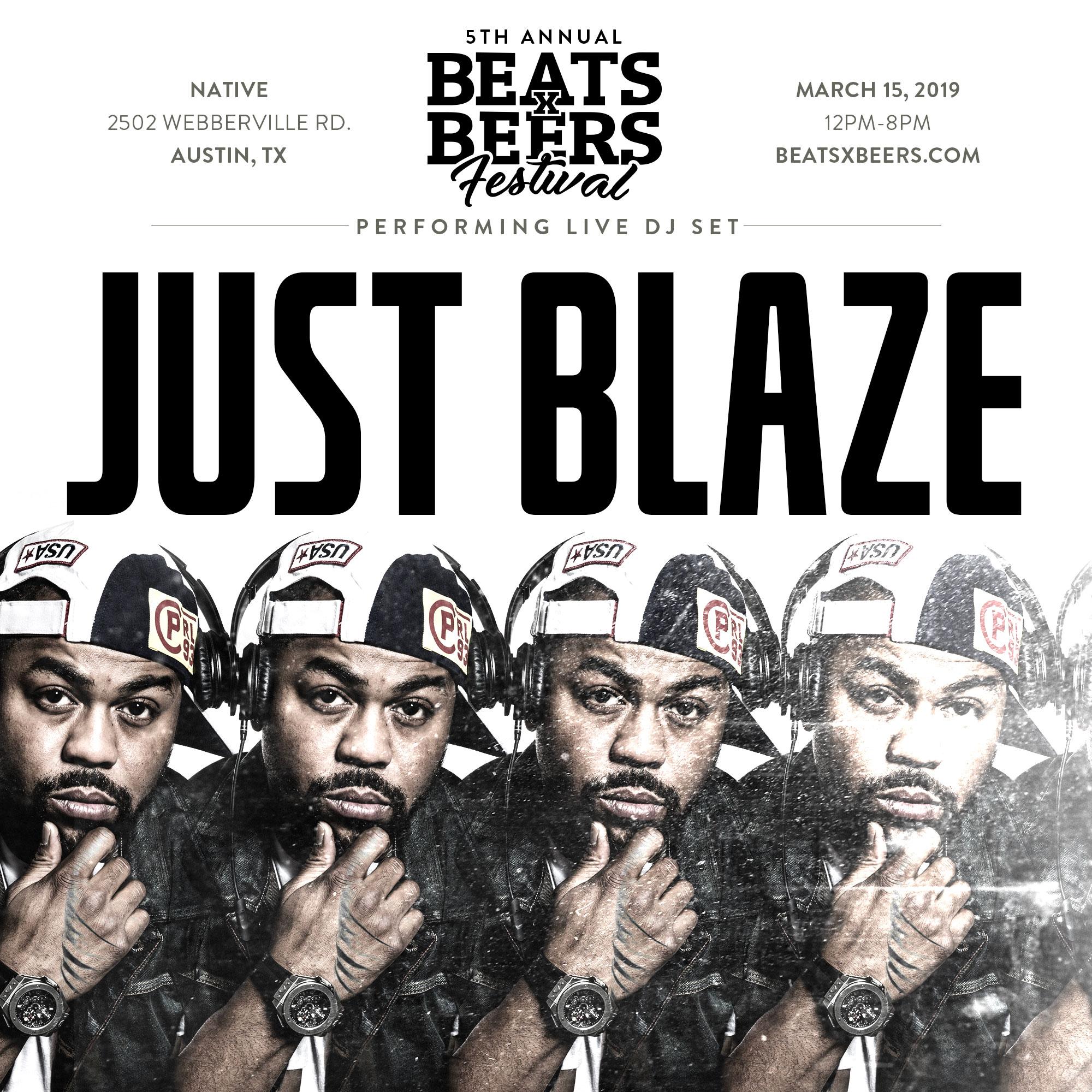 Beats x Beers Festival 5 - w/ Just Blaze
