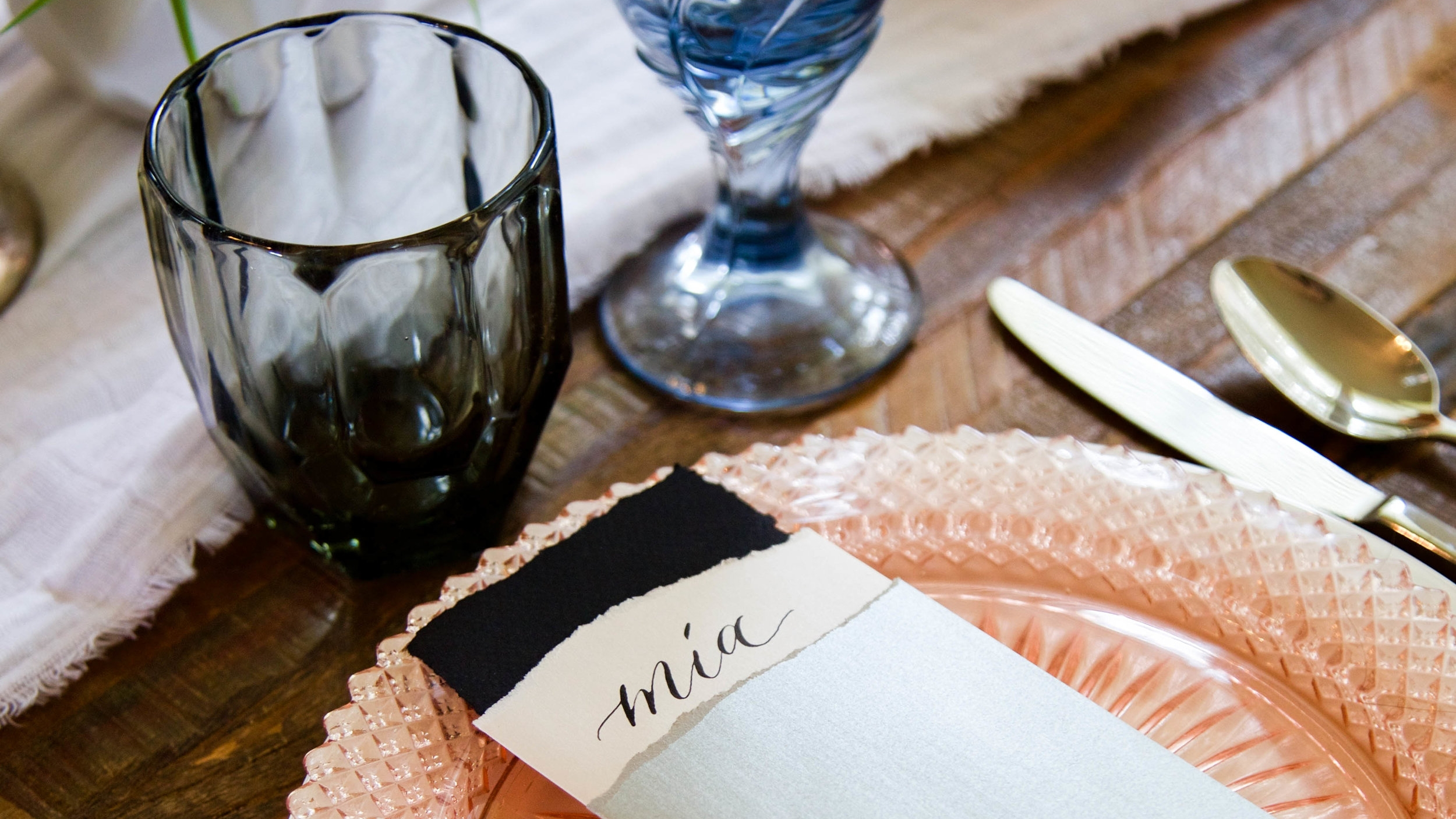 day of stationery tablescape