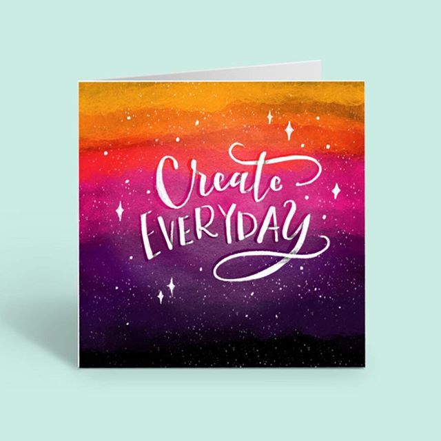 "Just a reminder to create eveyday! Even if it sucks!! Hahaha ""Create what sets your heart on fire and it will illuminate the path ahead"" ✨ . #create #creative #artquote #ipadpro #procreate #handlettering #artlicensing #illustration #digitalart #calligraphy"