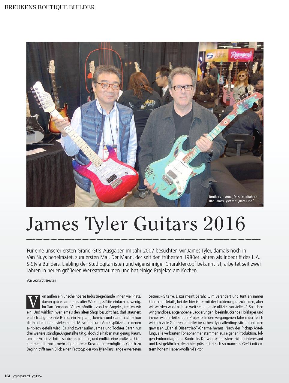 2016 Grand Guitars