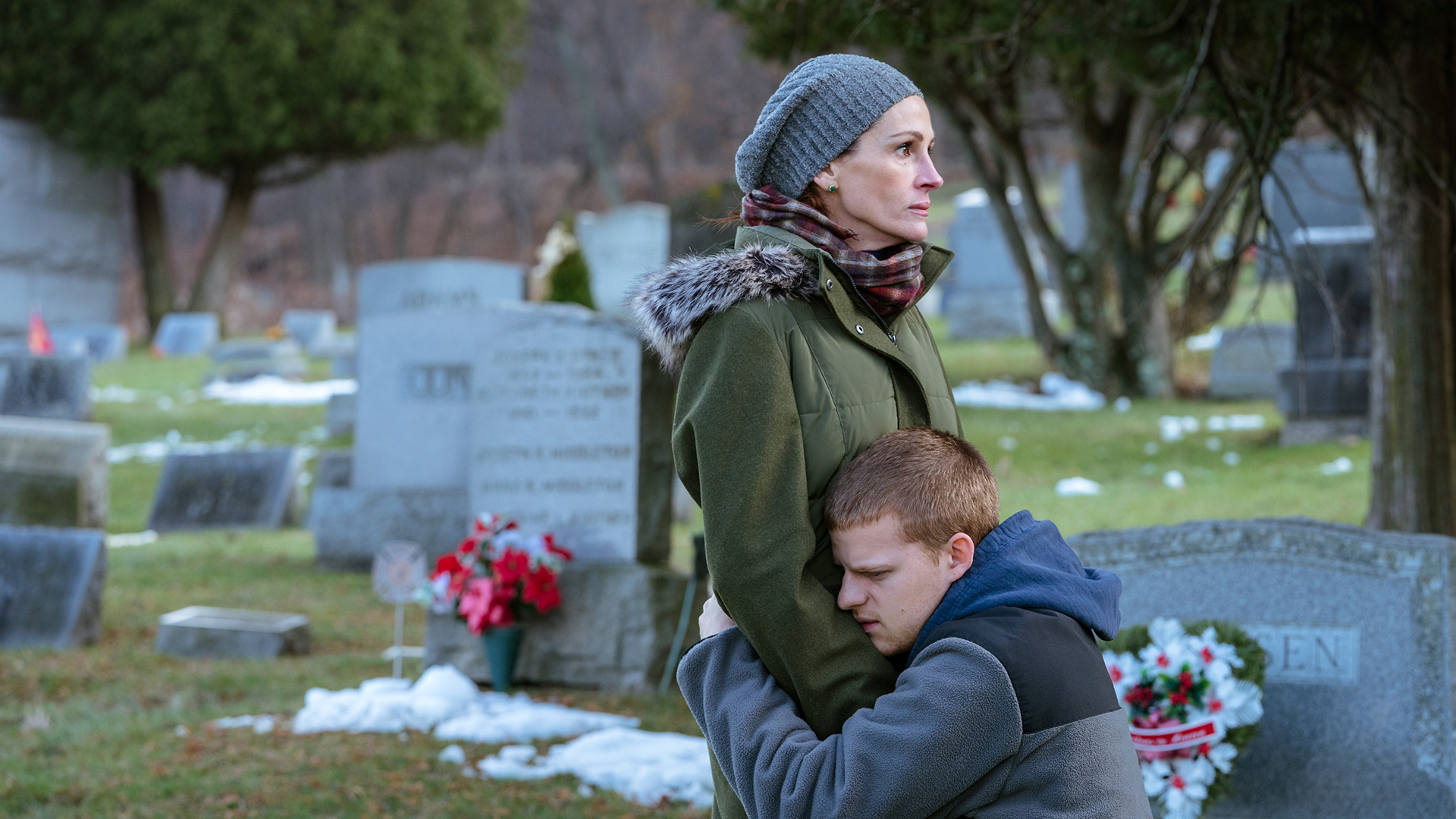 Julia Roberts and Lucas Hedges | Roadside Attractions