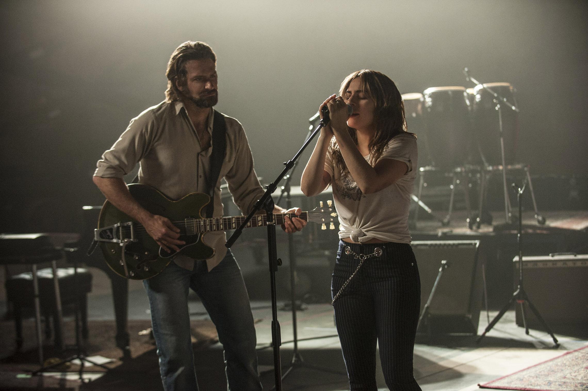 Bradley Cooper & Lady Gaga in  A Star Is Born  | Warner Bros.