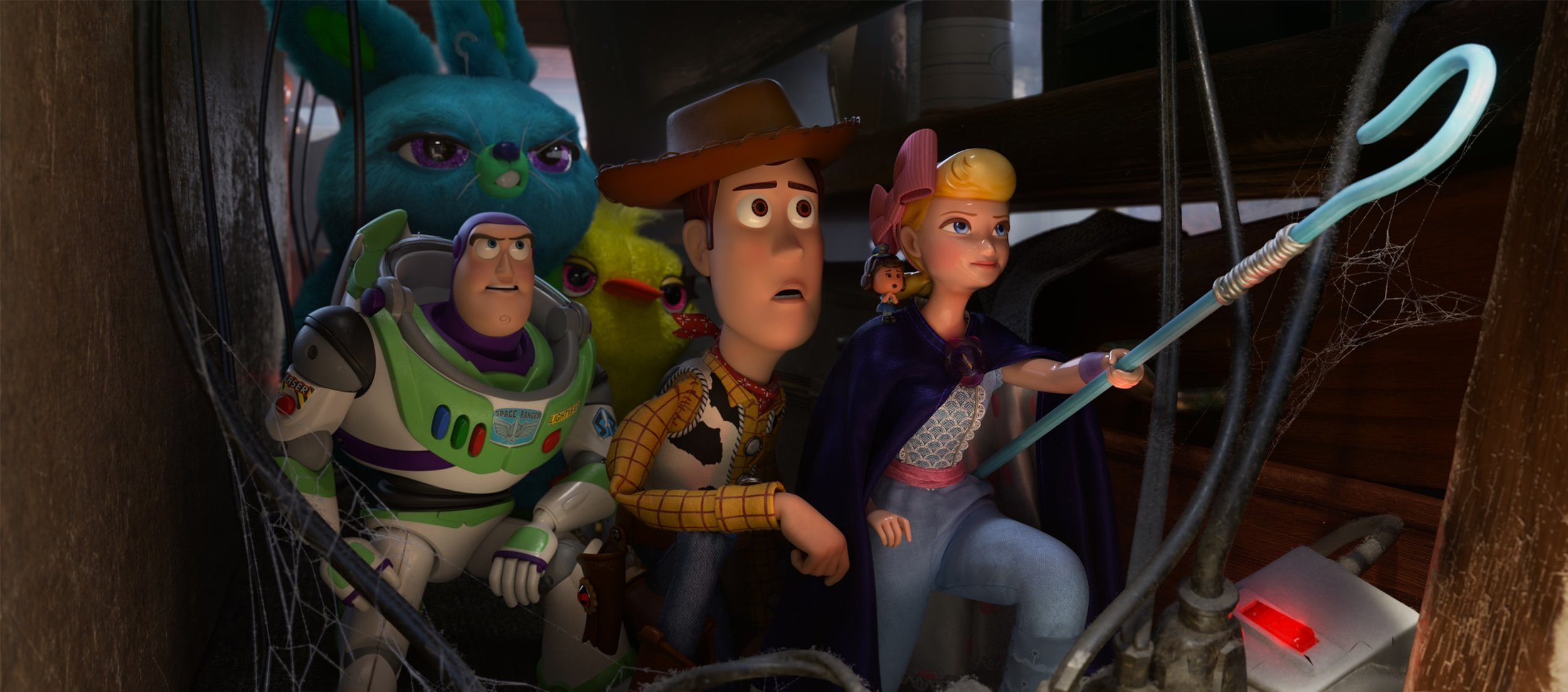 Tim Allen, Keegan Michael-Key, Jordan Peele, Tom Hanks, Ally Maki, and Annie Potts in  Toy Story 4  | Walt Disney Studios Motion Pictures