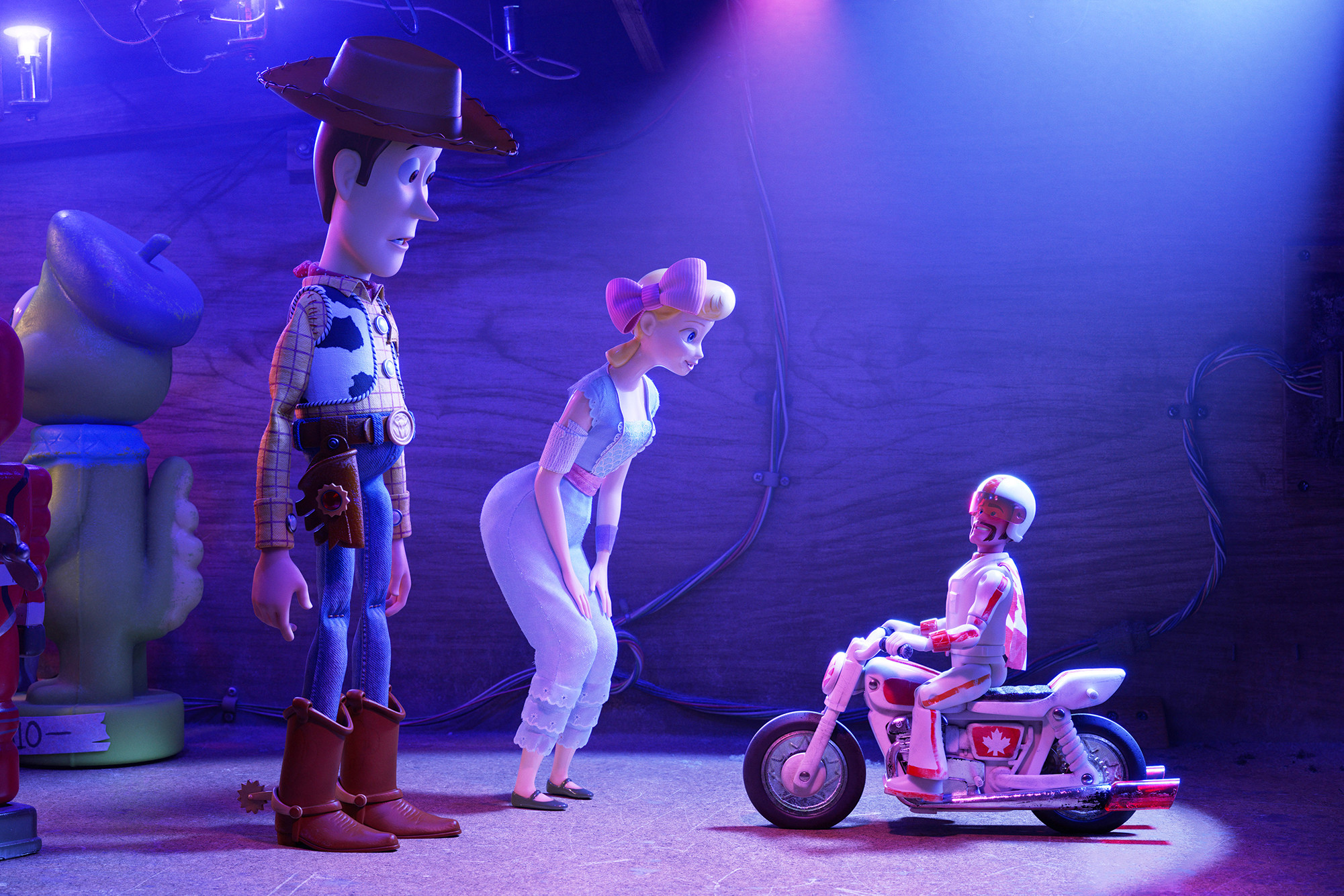 Tom Hanks, Annie Potts, and Keanu Reeves in  Toy Story 4  | Walt Disney Studios Motion Pictures