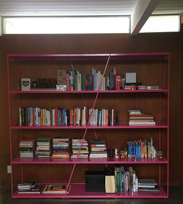 A week ago, we received our custom @lucas.ahlstrand.design bookshelf and had a chance to put our books in place.  Definitely heavy on the self-help/find yourself section (entire middle section)...