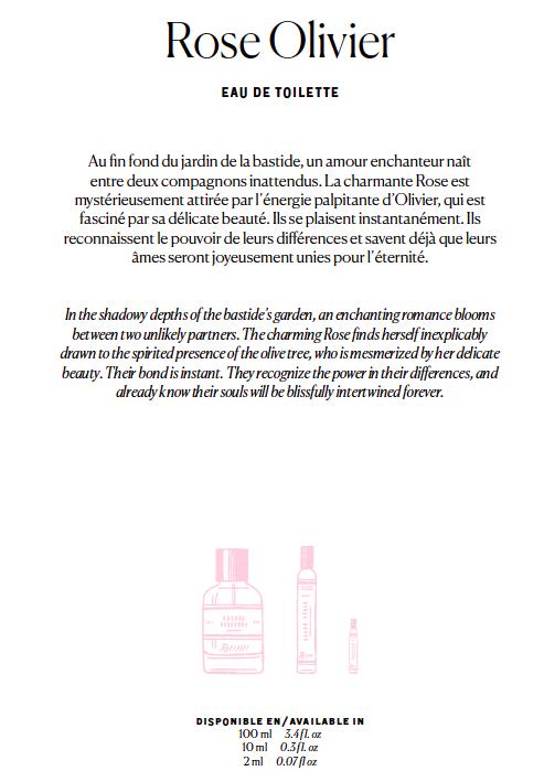 Bastide Rose Olivier fragrance copy