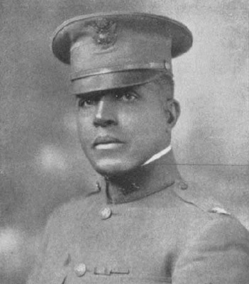 A photograph of Charles Young, now a Colonel, in 1919.