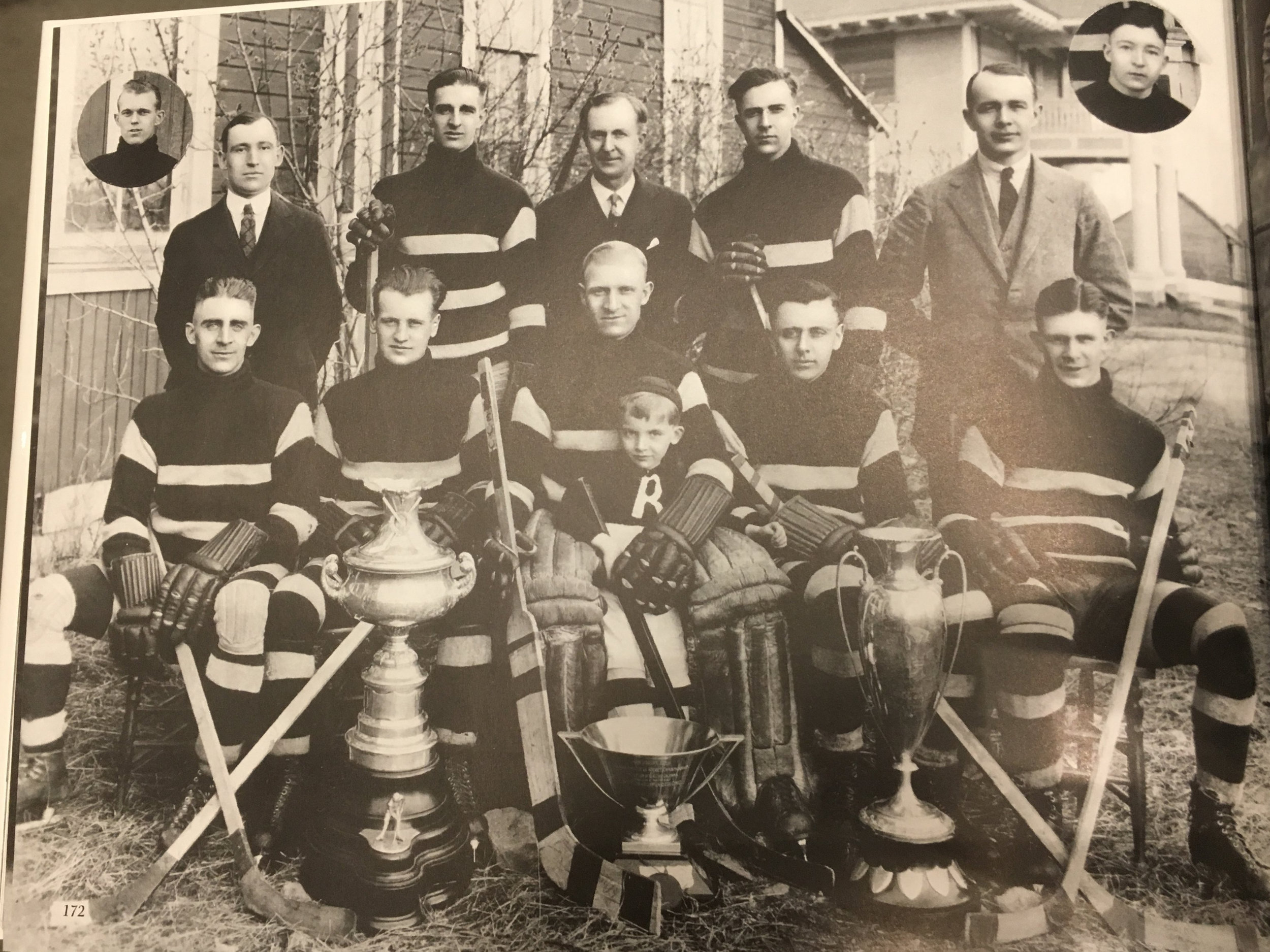 Rossland Miners Hockey Team, Provincial Champs, 1924