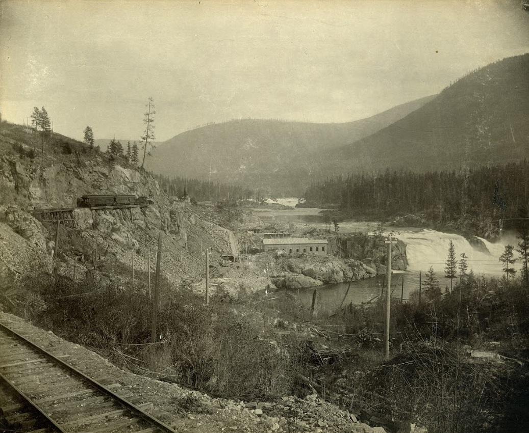 Photo 2348.0052: The original No. 1 Power Plant at the Lower Bonnington Falls.