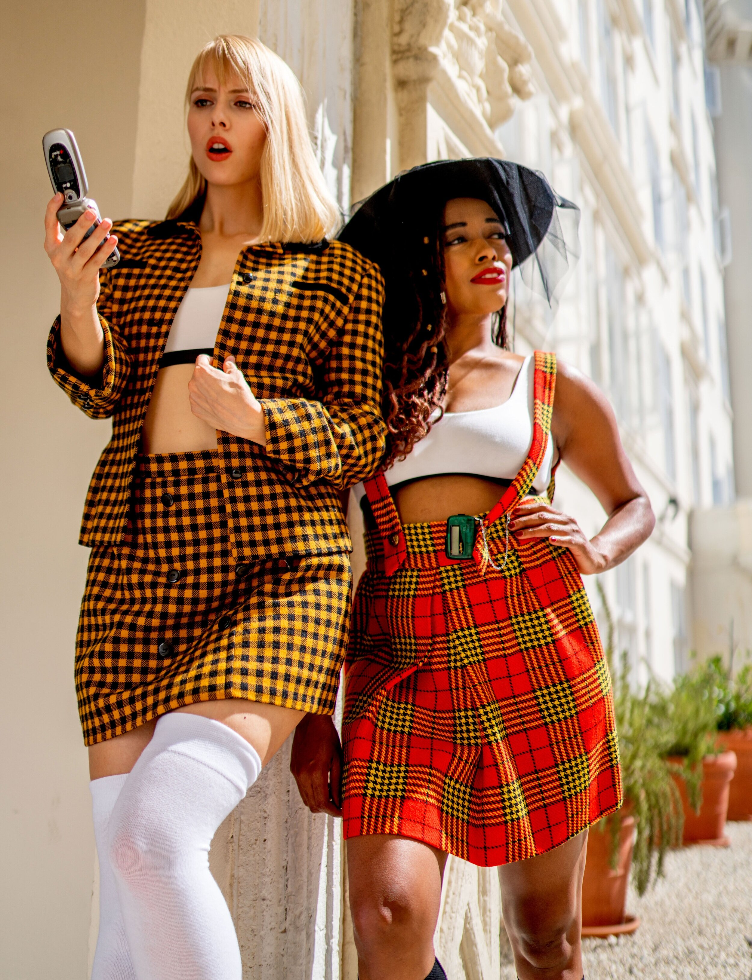 Clueless - One word: iconique. Create two 90's inspired Halloween looks. Complete your 'fit with our high-waisted, FeelFree Undies in Plaid (of course.) Or, simply throw on a white U-Back Bralette with your plaid costume. Such a Betty.