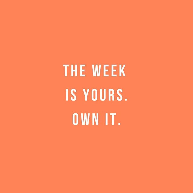 That's right, y'all! Happy #Monday 💥 The first step to having a productive, fulfilled week is to set that intention. What will you accomplish this week?