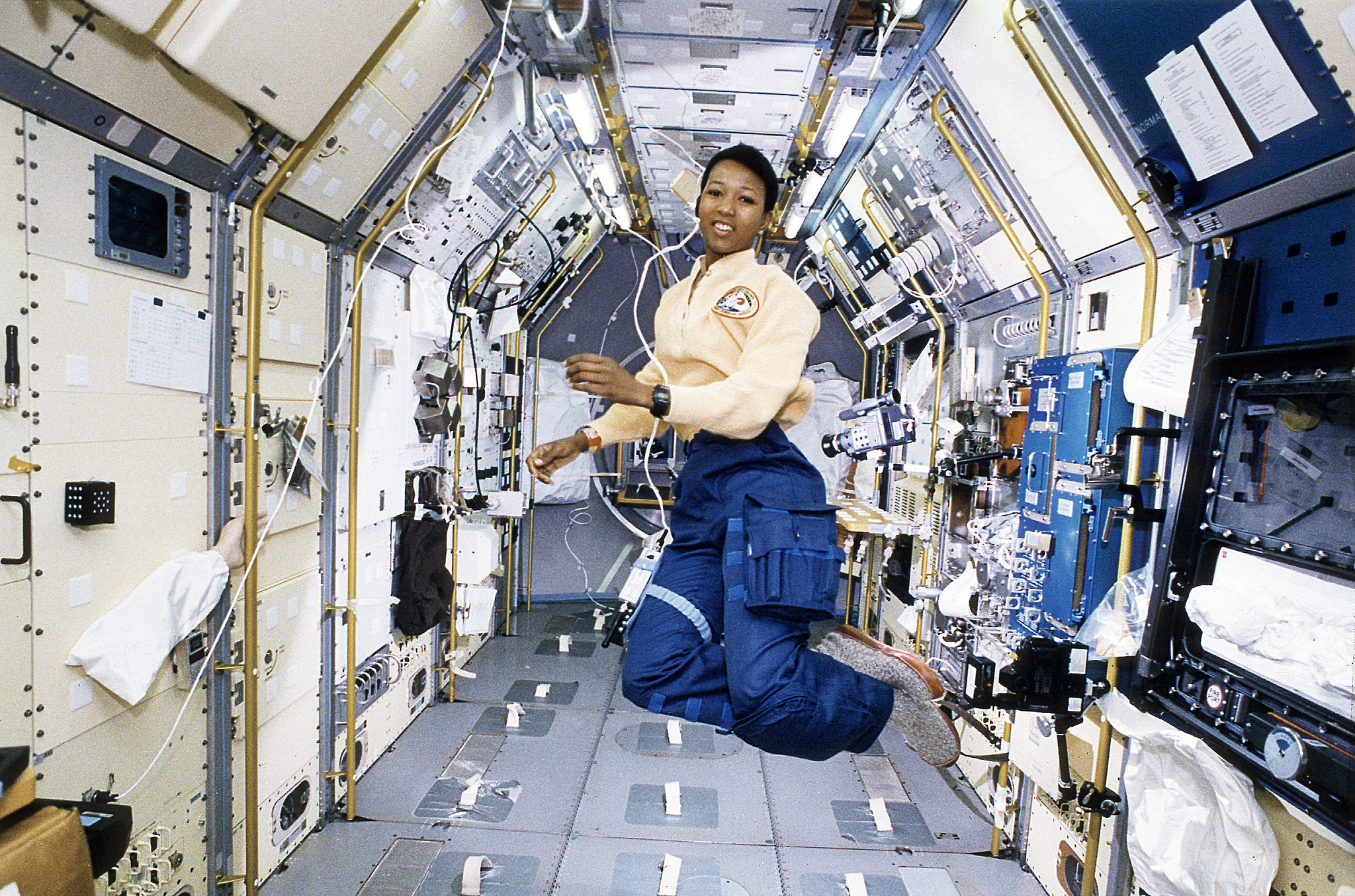 Astronaut Mae Jemison, Mission Specialist Working in SL-J Module,    Photo Courtesy of NASA on The Commons