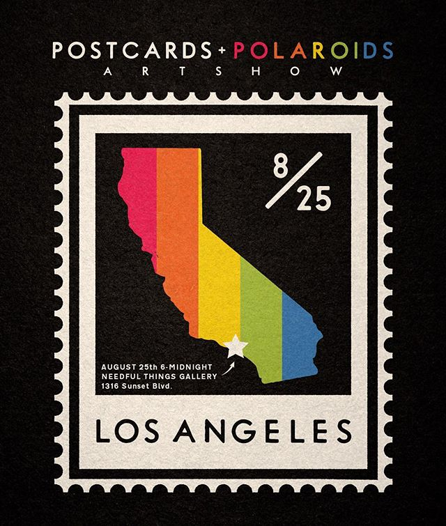 Please come say hi tonight at the first @postcardsandpolaroids_show featuring the postcard art of Andy Pitts and Polaroid photos of John Erickson. Complimentary drinks and great times. 6pm-midnight 1316 Sunset Blvd - - #polaroidsandpostcards #postcards #polaroids #artshow #polaroid #photography #artgallery #echopark #losangeles #supportart #needfulthingsechopark
