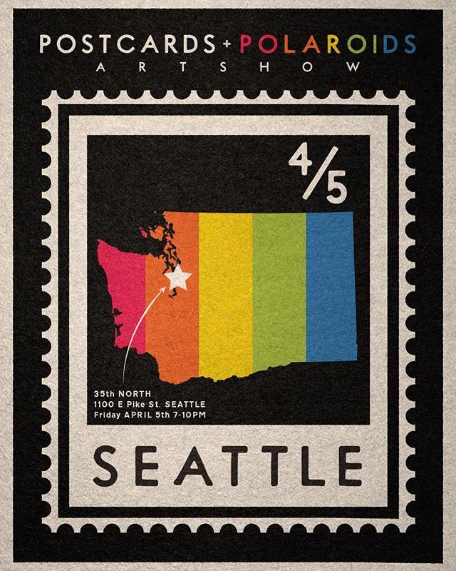 Seattle friends and fam! Please join us Friday, April 5th for the latest installment of the Postcards & Polaroids Show @35thnorth Good times and high fives will be in abundance! 🎉🍻 - - - #postcardsandpolaroids #35thnorth #seattle #northwest #artshow #illustration #photography #art #polaroid #photo #instantphotography #design #travel #mintcamera #polaroidoriginals #instantfilmsociety #travelphotography #filmphotographic #dlxsf #spitfirewheels #theroadislifetravel #skateistan