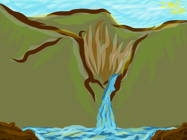 """I drew this last night. """"Where I Wanted To Be."""" Somewhere untampered."""