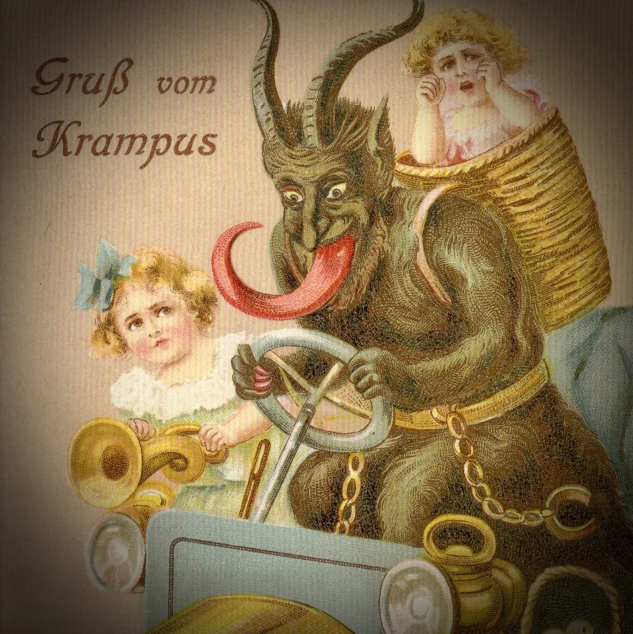 """Greetings from Krampus."" And happy holidays to you, too."