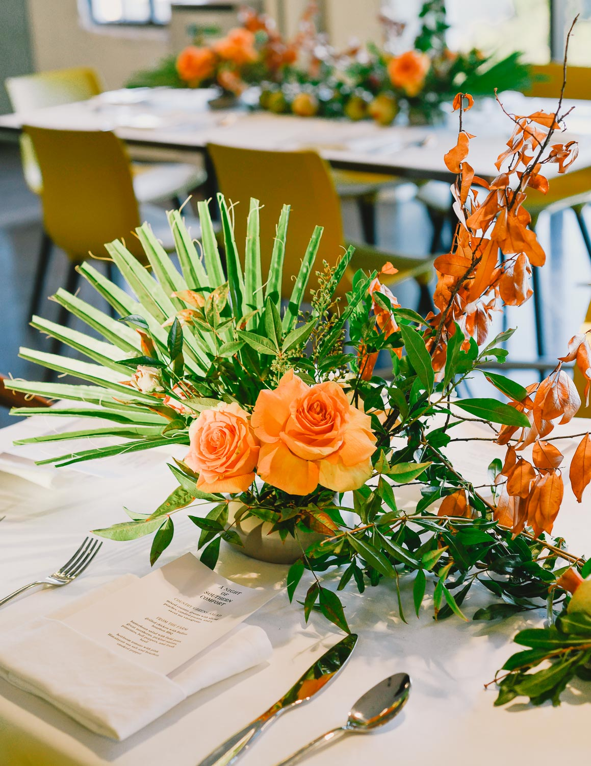 FLORALS FROM  FLORALOOM  FOR A NON-PROFIT GATHERING AT  CARUSO