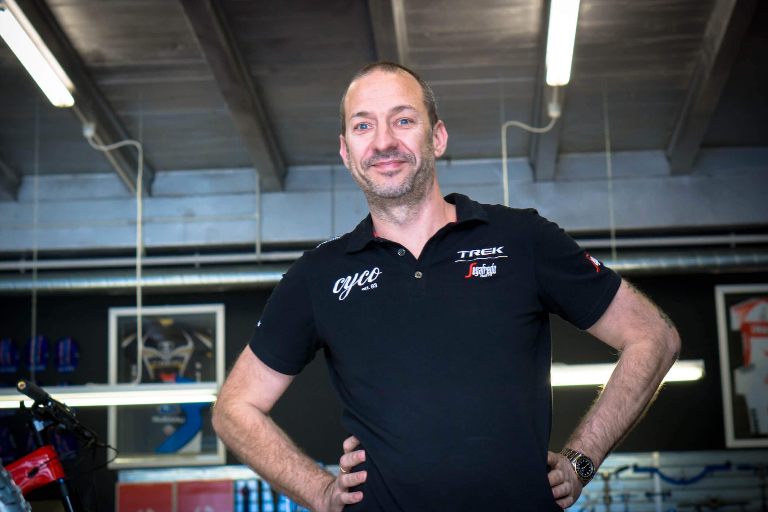Darren Murray, Owner - My goal is to run a shop that is accessible for every cyclist to come, chat or chill with no pressure. I'm always up for a coffee and a yarn.