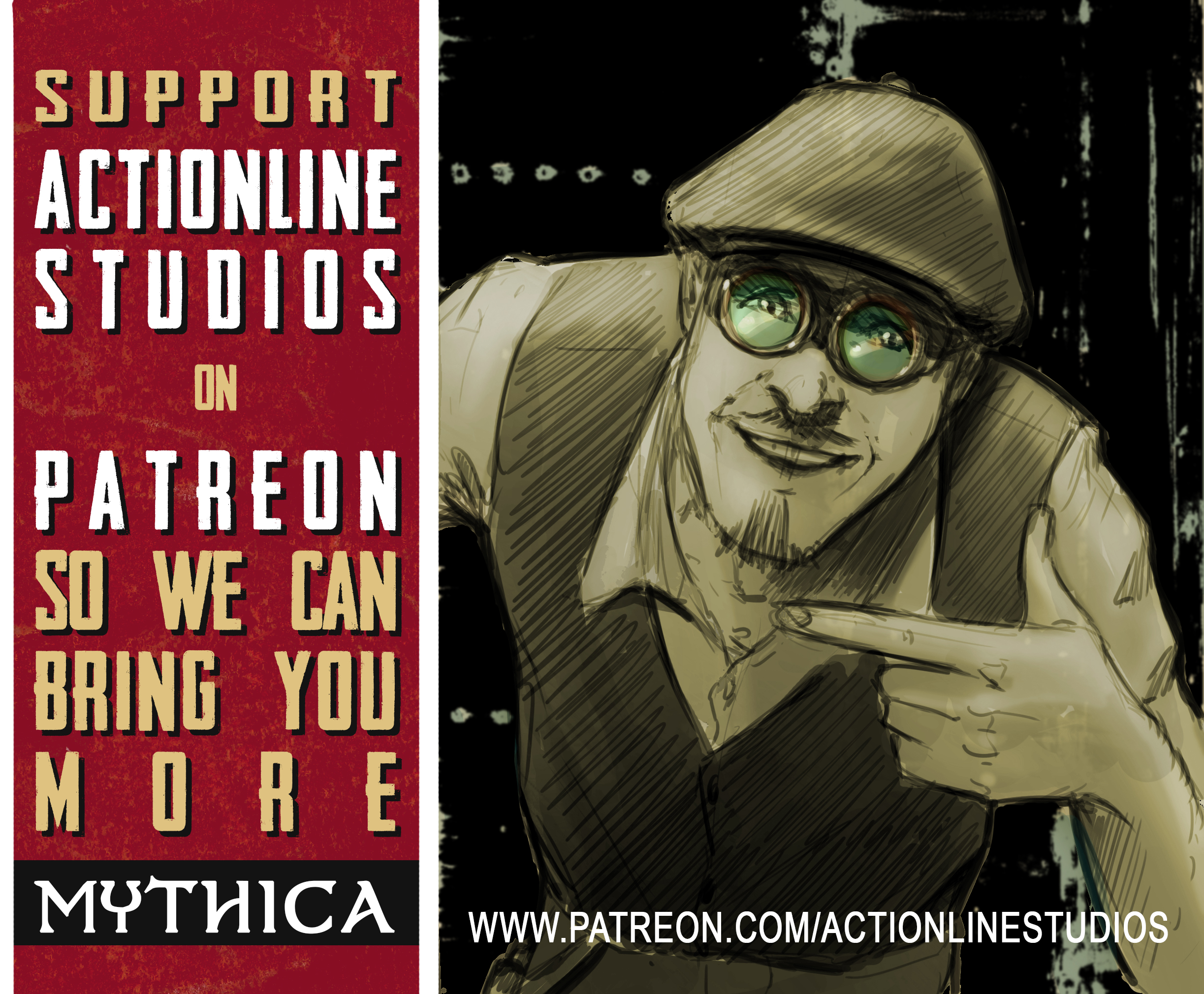 Support Actionline Studios on Patreon so we can make more Mythica comics!