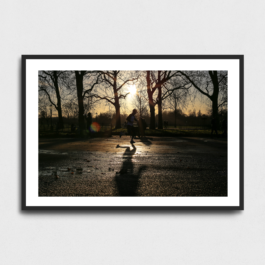 Jogging - Hyde park, London, UK3 Sizes:• 10x8/254x204mm• 20x16/508x407mm• 48x36/1219x914mmSupplied unframedFrom £56 to £267