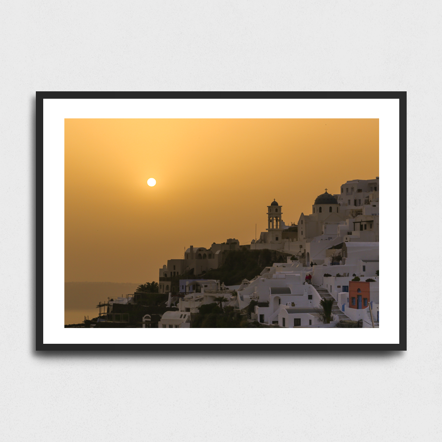 Oia sunset - Santorini, Greece3 Sizes:• 10x8/254x204mm• 20x16/508x407mm• 48x36/1219x914mmSupplied unframedFrom £56 to £267