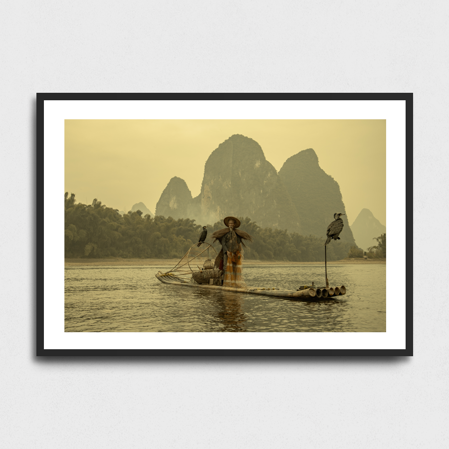 Cormorant fisherman - Xing Ping, Guangxi Province, China3 Sizes:• 10x8/254x204mm• 20x16/508x407mm• 48x36/1219x914mmSupplied unframedFrom £56 to £267