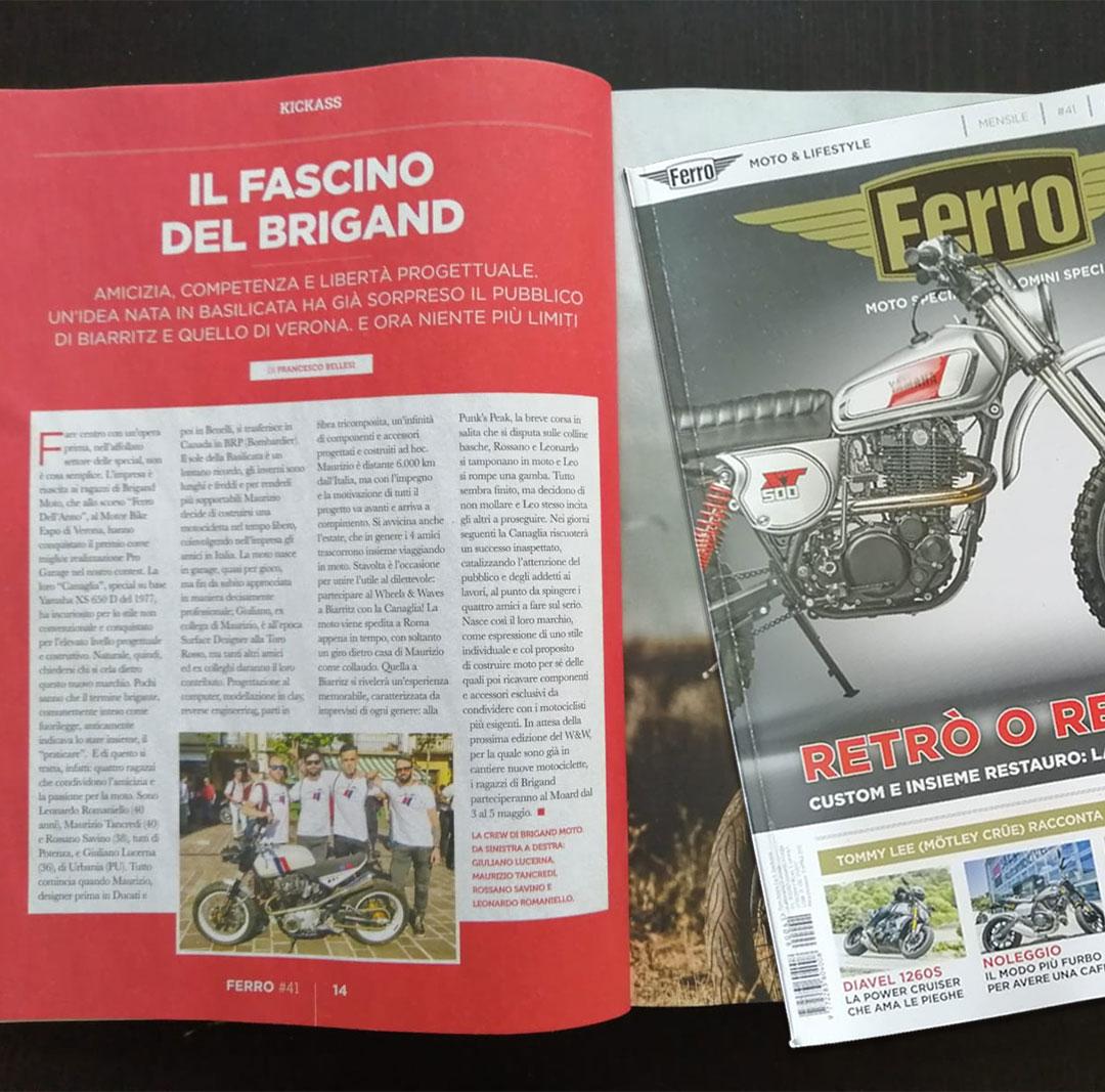 Brigand Moto Kickass featured on Ferro #41