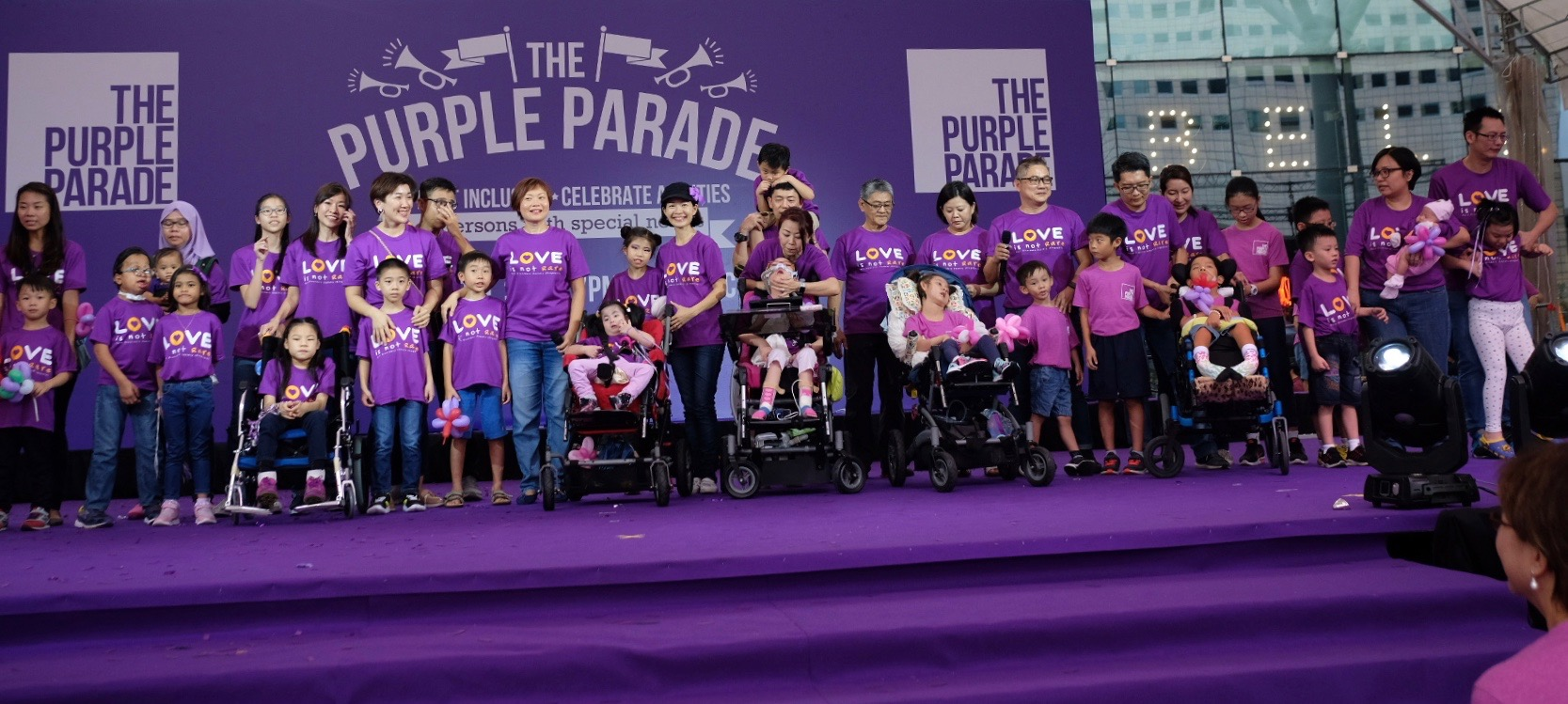 Voices of Rare at The Purple Parade 2018 - Families of RDSS sang 'Love Is Not Rare' as one voice for their children living with rare disorders. Photo by Isabelle Lim.